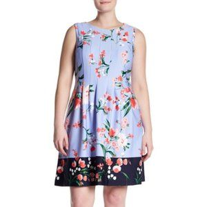 VINCE CAMUTO NEW Release Pleat Fit & Flare Dress